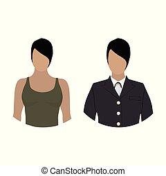 Military woman avatar