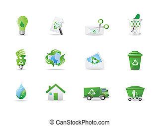miljö, eco, ikonen