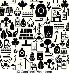 miljöbetingad, icon., seamless, fond mönstra