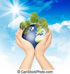 miljöbetingad, symbol, protection.