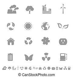 miljø, økologi, iconerne