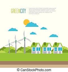 miljø, byen, energi, økologi, grønne