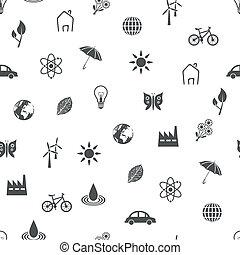 miljø, mønster, seamless
