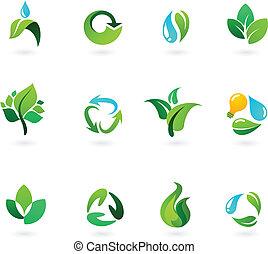 miljøbestemte, iconerne