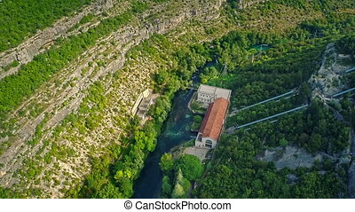 Miljacka Hydroelectric Power Plant aerial - Copter aerial...