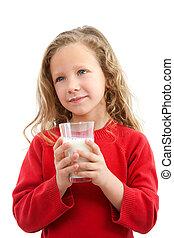 milk., χαριτωμένος , κορίτσι , αμπάρι βάζω τζάμια