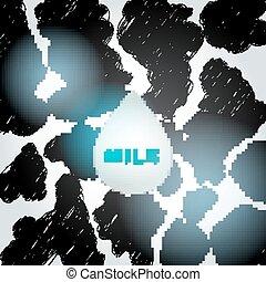 milk., スケッチ, パターン, 抽象的, -, 点, 背景, ベクトル, 黒, いたずら書き, 白