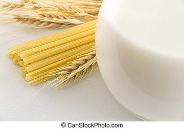 Milk and pasta
