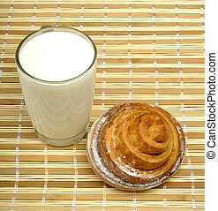 milk and sweet bun
