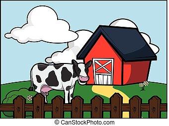 Milk at farm house