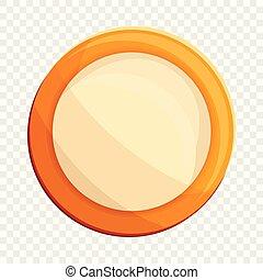 Milk biscuit icon, cartoon style