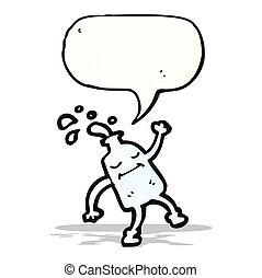 milk bottle cartoon character