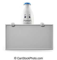 Milk bottle character