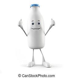 Milk bottle character