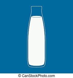Milk bottle illustration.