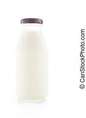 Milk bottle. Isolated on white background