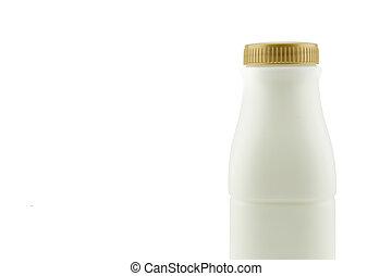 Milk bottle isolated on white background