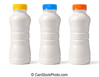 milk bottle isolated