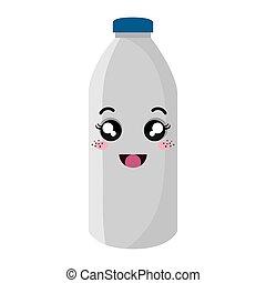 milk bottle kawaii style