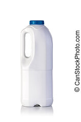 milk bottle on a white background