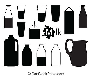 milk bottle silhouettes
