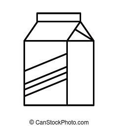 milk box beverage line style icon