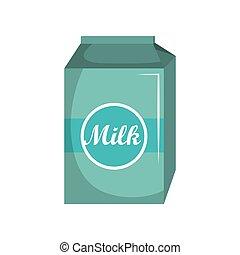 milk box carton isolated icon