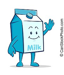 Milk box Cartoon Character