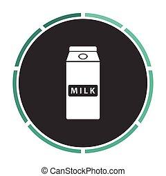 Milk box computer symbol