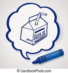 milk box doodle