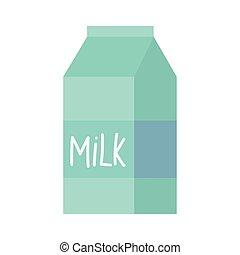 milk box food isolated icon design white background