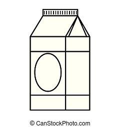 milk box healthy icon