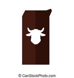 Milk box icon. Bakery supply design. Vector graphic