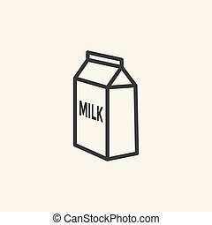 Milk box icon.