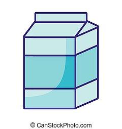 milk box icon, flat style