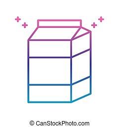 milk box icon, gradient line style