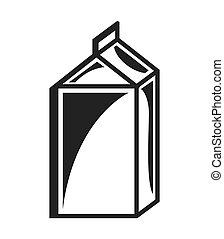 milk box isolated icon design