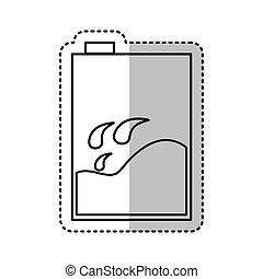 milk box isolated icon