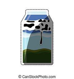 Milk box isolated