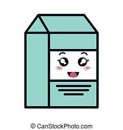 milk box kawaii style