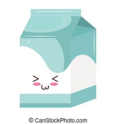 milk box kiut food kawaii character