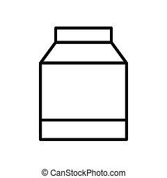 Milk box line icon. Editable stroke. Design template vector