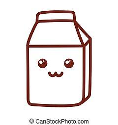 milk box , line style icon