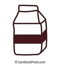 milk box, line style icon