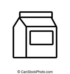 milk box line style