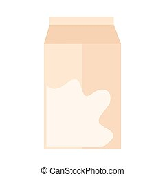 milk box liquid food product flat icon style