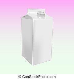 milk box  mockup