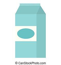 milk box packing icon