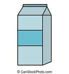 milk box product icon vector illustration