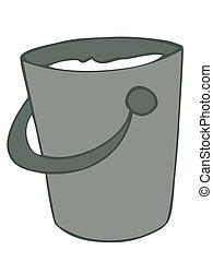 Milk bucket.